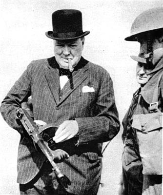 winston churchill gun