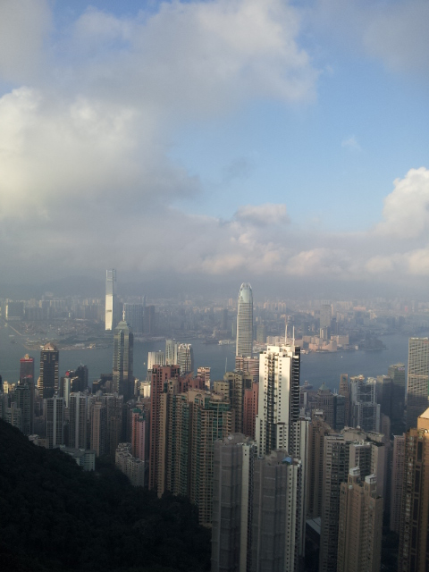 hong kong peak view